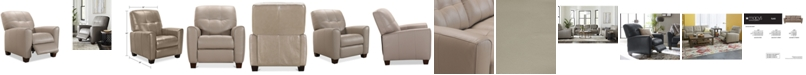 Furniture Kaleb Tufted Leather Recliner, Created for Macy's