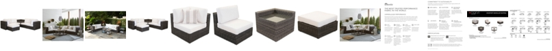 Furniture Viewport Outdoor 6-Pc. Modular Seating Set (2 Corner Units, 2 Armless Units, 1 Corner Table and 1 Ottoman)with  with Sunbrella® Cushions, Created for Macy's