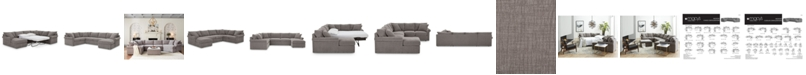 Furniture Wedport 3-Pc. Fabric Sofa Return Sleeper Sectional with Chaise, Created for Macy's