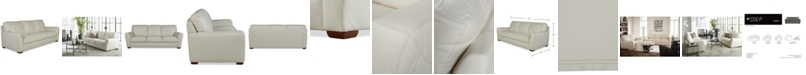 "Furniture Jaspene 91"" Leather Sofa, Created for Macy's"