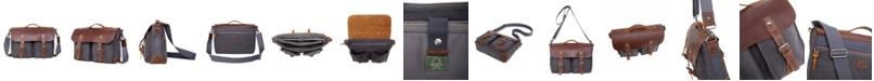 TSD BRAND Women's Hudson Canvas Messenger Bag