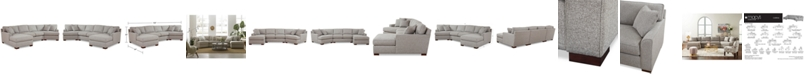 Furniture CLOSEOUT! Carena 3-Pc. Fabric Sectional Sofa with Armless Loveseat and Cuddler Chaise, Created for Macy's