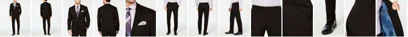 Vince Camuto Men's Slim-Fit Wrinkle-Resistant Black Solid Suit Separates