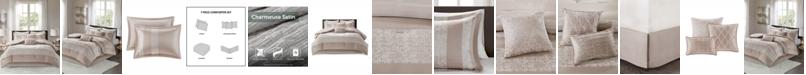 JLA Home Madison Park Ava King 7 Piece Chenille Jacquard Comforter Set