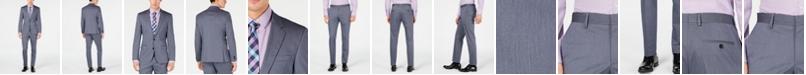 Hugo Boss HUGO Hugo Boss Men's Slim-Fit Stretch Navy Vertical Stripe Suit Separates