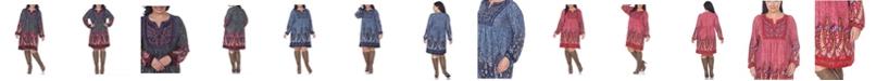 White Mark Women's Plus Size Apolline Embroidered Sweater Dress