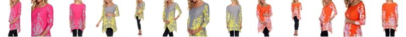 White Mark Maternity Ganette Tunic Top