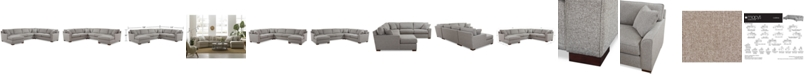 Furniture Carena 4-Pc. Fabric Sectional Sofa with Chaise, Created for Macy's