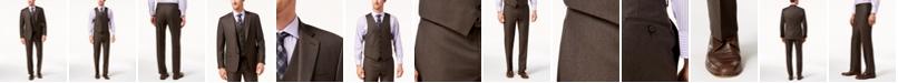 Lauren Ralph Lauren Men's Classic-Fit Ultraflex Stretch Brown Solid Vested Suit