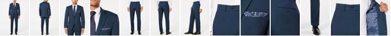 Perry Ellis Men's Slim-Fit Comfort Stretch Turquoise Solid Suit