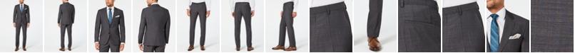 Hugo Boss HUGO Men's Modern-Fit Dark Charcoal Suit Separates
