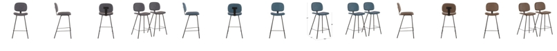 Lumisource Industrial Nunzio Counter Stool Set of 2