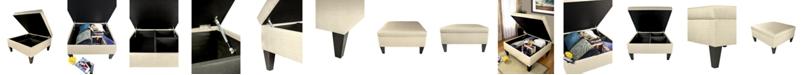 MJL Furniture Designs Manhattan Upholstered Square Storage Ottoman