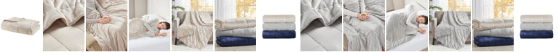 "Sleep Philosophy Mink to Microfiber Weighted Blanket, 48"" x 72"" - 12 lbs"