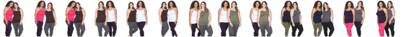 White Mark Plus Size Lace Tank Tops Pack of 2