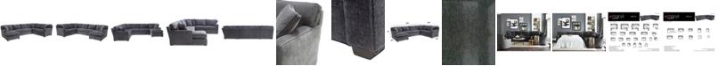 Furniture Brekton 3-Pc. Fabric Sofa Return with Chaise
