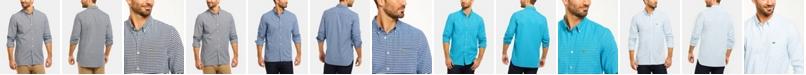Lacoste Men's Regular Fit Long Sleeve Gingham Check Oxford Shirt