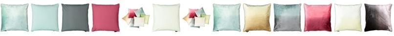 "Mod Lifestyles Ombre Velvet Collection Viscose Beaded Edges Pillow, 20"" x 20"""