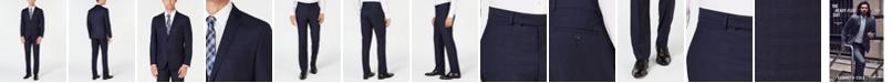 Kenneth Cole Reaction Men's Ready Set Slim-Fit Navy Box Plaid Suit