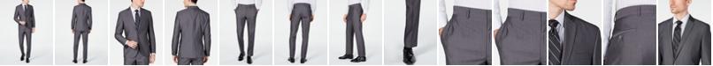 Kenneth Cole Unlisted Men's Slim-Fit Medium Gray Stripe Suit