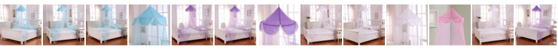 Epoch Hometex inc Cottonloft Pom Pom Collapsible Hoop Sheer Mosquito Net Bed Canopy