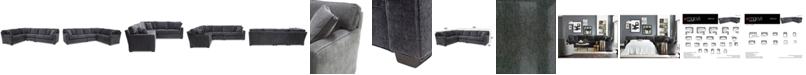 Furniture Brekton 3-Pc. Fabric Sofa Return
