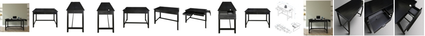 Yu Shan Jefferson Work Desk with Concealed Side Drawer, Concealment Furniture