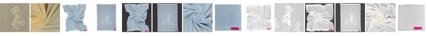 Southampton Home Lace Weave Teddy Bear Baby Blanket