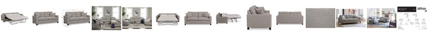 "Furniture Clarke II 93"" Fabric Queen Sleeper Sofa Bed, Created for Macy's"