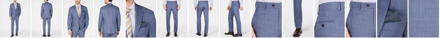 Lauren Ralph Lauren Men's Classic-Fit UltraFlex Stretch Light Blue Glen Plaid Suit Separates