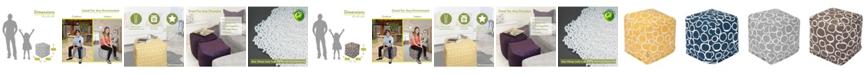 "Majestic Home Goods Fusion Ottoman Pouf Cube 17"" x 17"""