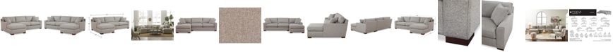 Furniture CLOSEOUT! Carena 2-Pc. Fabric Chaise Sectional Sofa, Created for Macy's