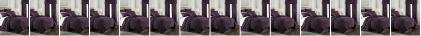 Colcha Linens Cambric Eggplant Coverlet-Twin