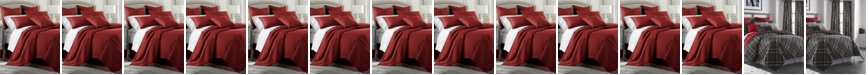 Colcha Linens Cambric Red Coverlet-King