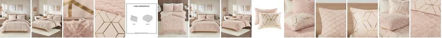 Intelligent Design Ainsley Twin/Twin XL 2-Pc. Metallic Print Reversible Comforter Set