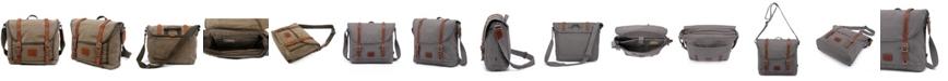 TSD BRAND Forest Canvas Messenger Bag