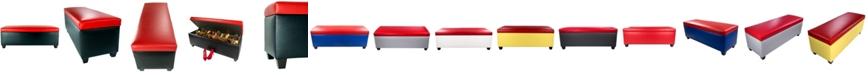 MJL Furniture Designs Sole Secret Retro Vinyl Upholstered Shoe Storage Bench