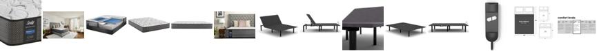 "Sealy Posturepedic Lawson LTD 11.5"" Cushion Firm Mattress Set- Queen with Adjustable Base"
