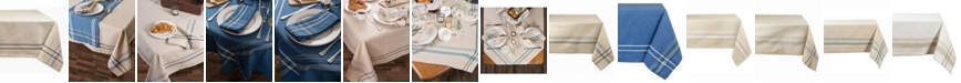 """Design Import Chambray French Stripe Tablecloth 60"""" x 84"""""""