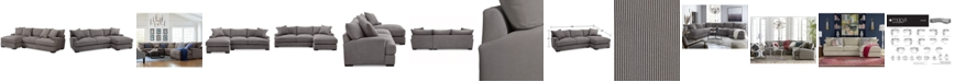 Furniture Rhyder 2-Pc. Fabric Sectional Sofa with Chaise, Created for Macy's