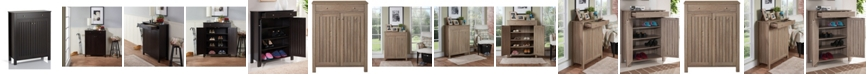 Furniture of America Jessa Slatted Shoe Cabinet