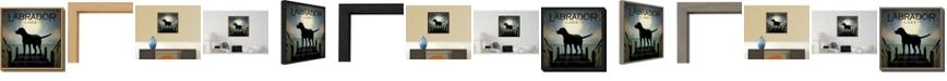 Amanti Art Moonrise Black Dog - Labrador Lake by Ryan Fowler Canvas Framed Art