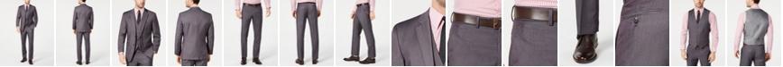 Perry Ellis Men's Portfolio Slim-Fit Stretch Gray Solid Suit Separates