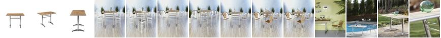 Euro Style Sherwood Rectangle Dining Table with Aluminum Base