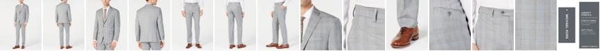 Michael Kors Men's Classic-Fit Light Gray/Light Blue Plaid Suit Separates