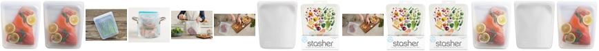 Stasher Stasherbag Reusable Half-Gallon Bag, Clear