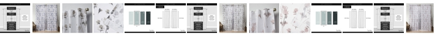 """Exclusive Home Nicole Miller La Petite Fleur Floral Cotton Hidden Tab Top 50"""" X 108"""" Curtain Panel Pair"""