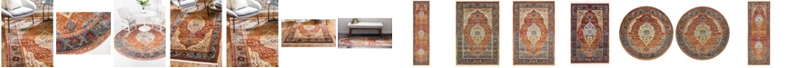Bridgeport Home Kenna Ken1 Rust Red Area Rug Collection