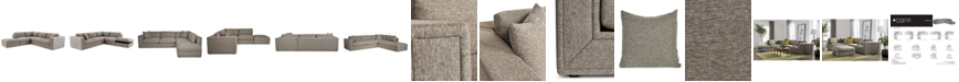 Furniture CLOSEOUT! Dulovo 4-Pc. Fabric Sectional Sofa, Created for Macy's