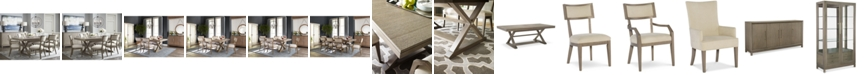 Furniture Rachael Ray Highline Expandable Trestle Dining Furniture Collection